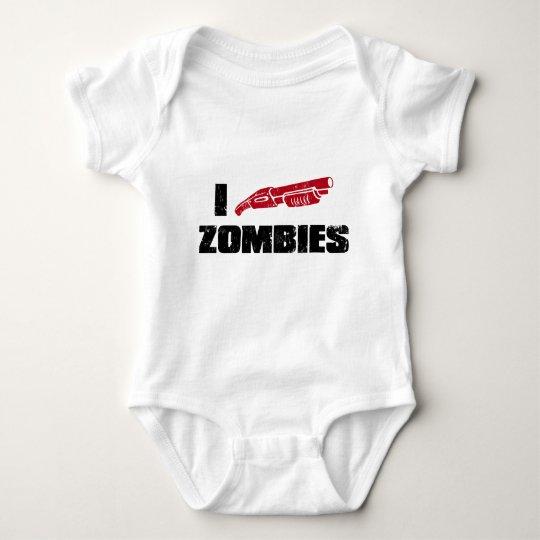 Zombies der Schrotflinte I Baby Strampler