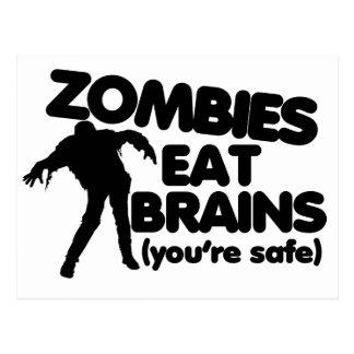 Zombies essen GEHIRNE (Sie sind sicher) Postkarte