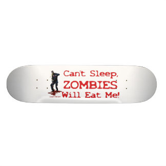 Zombies essen mich personalisierte skateboarddecks