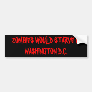 Zombies essen nicht Politiker Autoaufkleber