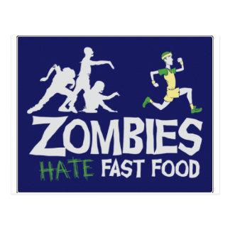 Zombies HASSEN Schnellimbiß Postkarte