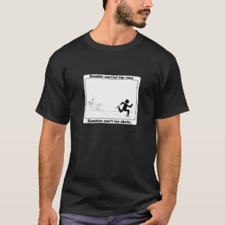 Zombies kippen Eis-Skate T-Shirt
