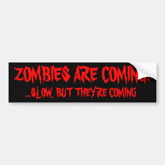 Zombies kommen autoaufkleber