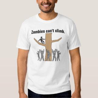 Zombies können nicht klettern t shirts