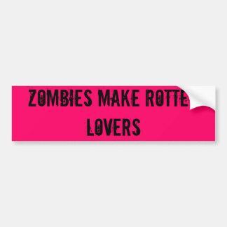 Zombies machen faule Liebhaber Autoaufkleber