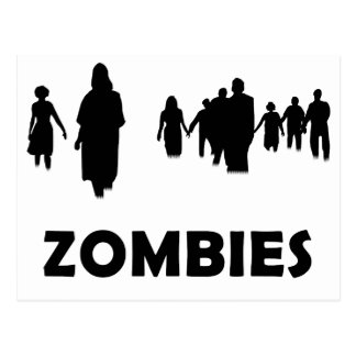 Zombies Postkarte
