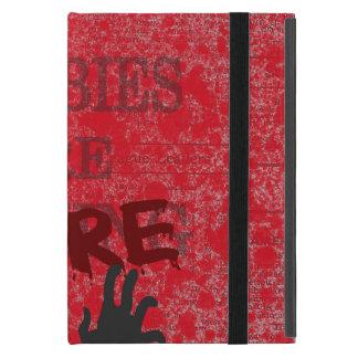 Zombies sind hier Blut Splattered Zeitung Etui Fürs iPad Mini