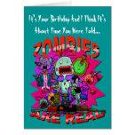 Zombies sind wirkliche Gruß-Karte