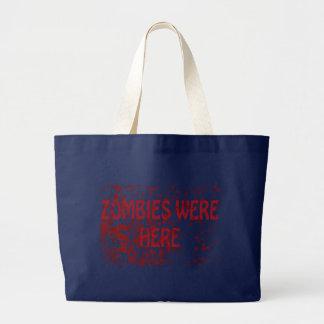 Zombies waren hier jumbo stoffbeutel