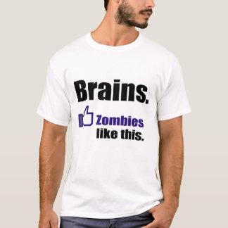 """Zombies """"WIE"""" Gehirne T-Shirt"""