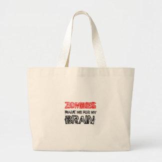 Zombies wollen mich für mein Gehirn Jumbo Stoffbeutel