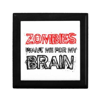 Zombies wollen mich für mein Gehirn Schmuckschachtel