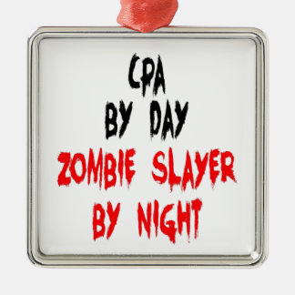 ZombieSlayer CPA Quadratisches Silberfarbenes Ornament
