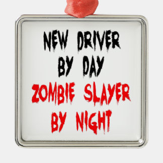 Zombieslayer-neuer Fahrer Silbernes Ornament