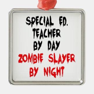 Zombieslayer-spezieller Bildungs-Lehrer Silbernes Ornament