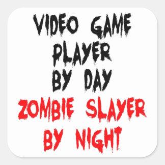 Zombieslayer-Videospiel-Spieler Quadratischer Aufkleber