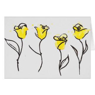 Zonta gelbe Rosen-Mitteilungskarten Karte