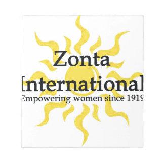 Zonta internationales Sun Shirt Notizblock