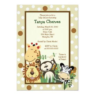 ZOO-CREW Dschungel-Safari-Baby-Duschen-12x18 Personalisierte Einladungskarten