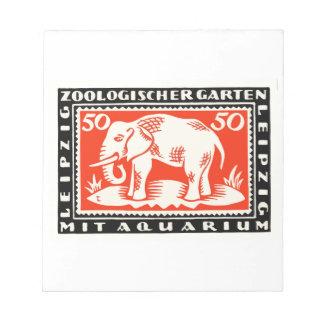 Zoo Deutschlands Leipzig Notgeld Banknote 1919 Notizblock