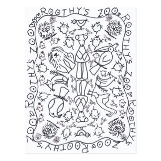 ZOO GESAMT ROOTHYS durch Ruth I. Rubin Postkarte