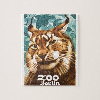Zoo-Luchs-Plakat 1930 Ludwigs Hohlwein Berlin Puzzle