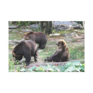 Zoo trägt, Tier-Leinwand-Plakat zu sitzen Leinwanddruck
