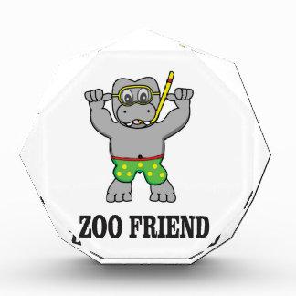 Zoofreundflusspferd Acryl Auszeichnung