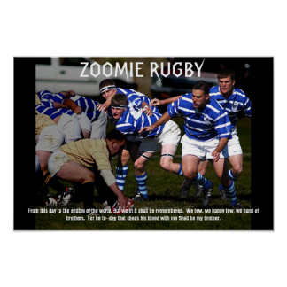 ZOOMIE RUGBY POSTER