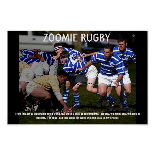 ZOOMIE RUGBY PLAKAT