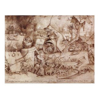 Zorn (Ärger) durch Pieter Bruegel das Älteste Postkarte