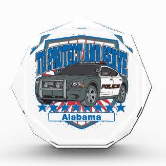 Zu Alabama-Polizeiwagen schützen und dienen Acryl Auszeichnung