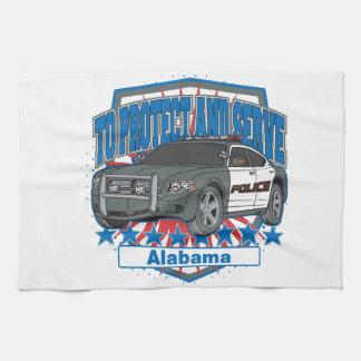 Zu Alabama-Polizeiwagen schützen und dienen Geschirrtuch