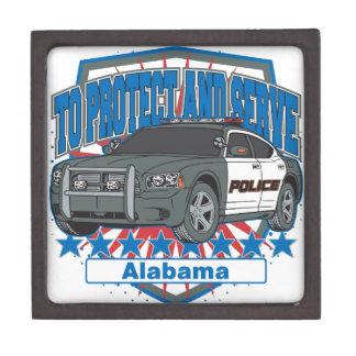 Zu Alabama-Polizeiwagen schützen und dienen Schachtel