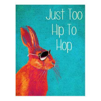 Zu angesagt Hop Blau Postkarte