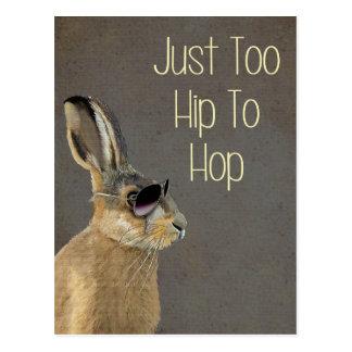 Zu angesagt Hop Grau Postkarte