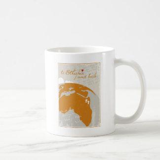 Zu Äthiopien und zur Rückseite Kaffeetasse