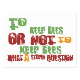 Zu Bienen behalten Postkarte