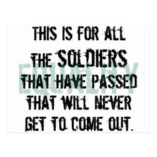 Zu den Soldaten Postkarte