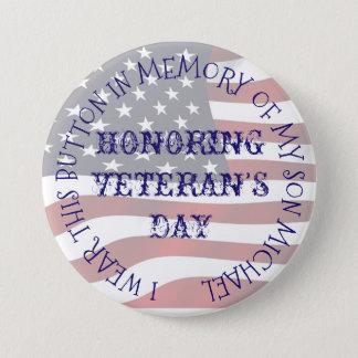 Zu Ehren Ihres Service-Militär-Knopfes Runder Button 7,6 Cm
