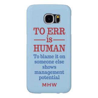 """""""Zu Err sind menschliche"""" kundenspezifische"""