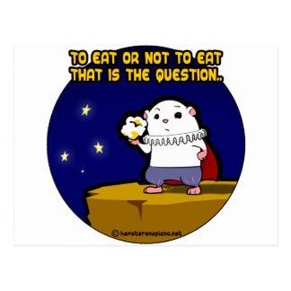 zu essen oder nicht essen? postkarte