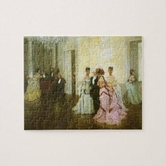 Zu früh durch James Tissot, Vintage viktorianische Puzzle
