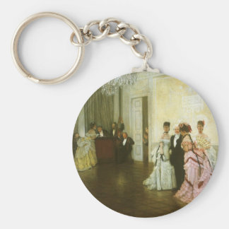 Zu früh durch James Tissot, Vintage viktorianische Schlüsselanhänger