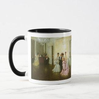 Zu früh durch James Tissot, Vintage viktorianische Tasse