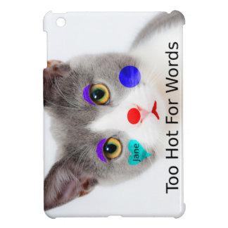 """""""Zu heiß für Wörter"""" Katze mit Clown-Make-up iPad Mini Hülle"""