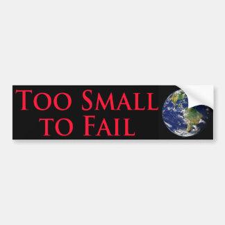 Zu klein - mit Bild der Planeten-Erde versagen Autoaufkleber