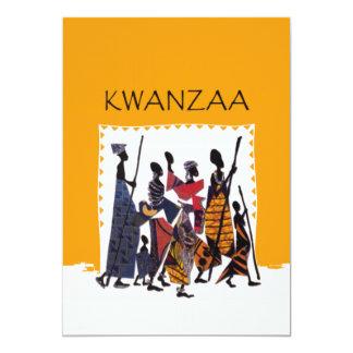 Zu Kwanzaa-Feiertags-Party Einladungen feiern