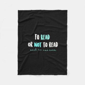 Zu lesen oder nicht lesen… fleecedecke