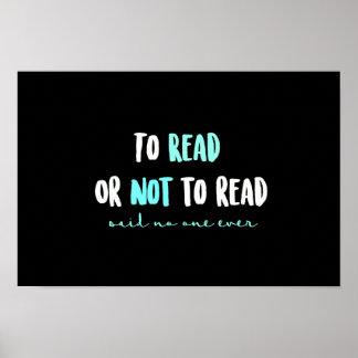 Zu lesen oder nicht lesen… poster